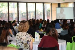 """Strong Girls, Strong Women conference participants watch documentary """"Miss Representation"""""""